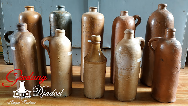 antiques stoneware bottle