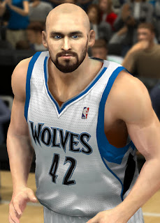 NBA 2K13 Kevin Love Cyber Face Patch Bald