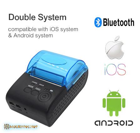 Zjiang Mini Portable 5805-DD Portable Bluetooth Printer