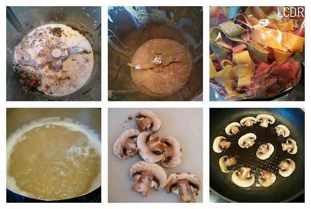 Receta de pappardelle con salsa de champiñones 02