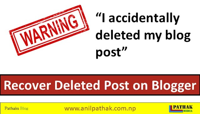 How To Recover Deleted Post In Blogger - [100%] Solved