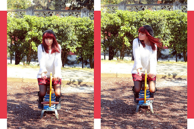 Look: Playing in the park