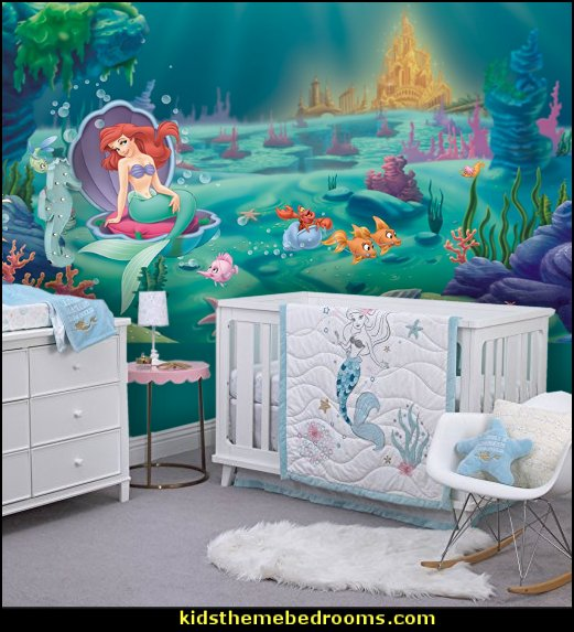 Disney Ariel Sea Princess  Little Mermaid Ariel Theme Bedroom - Mermaid decor - Disney The Little Mermaid decor - mermaid bedroom decor ariel themed - Disney Princess Ariel Furniture - Little mermaid princess Ariel Under the sea