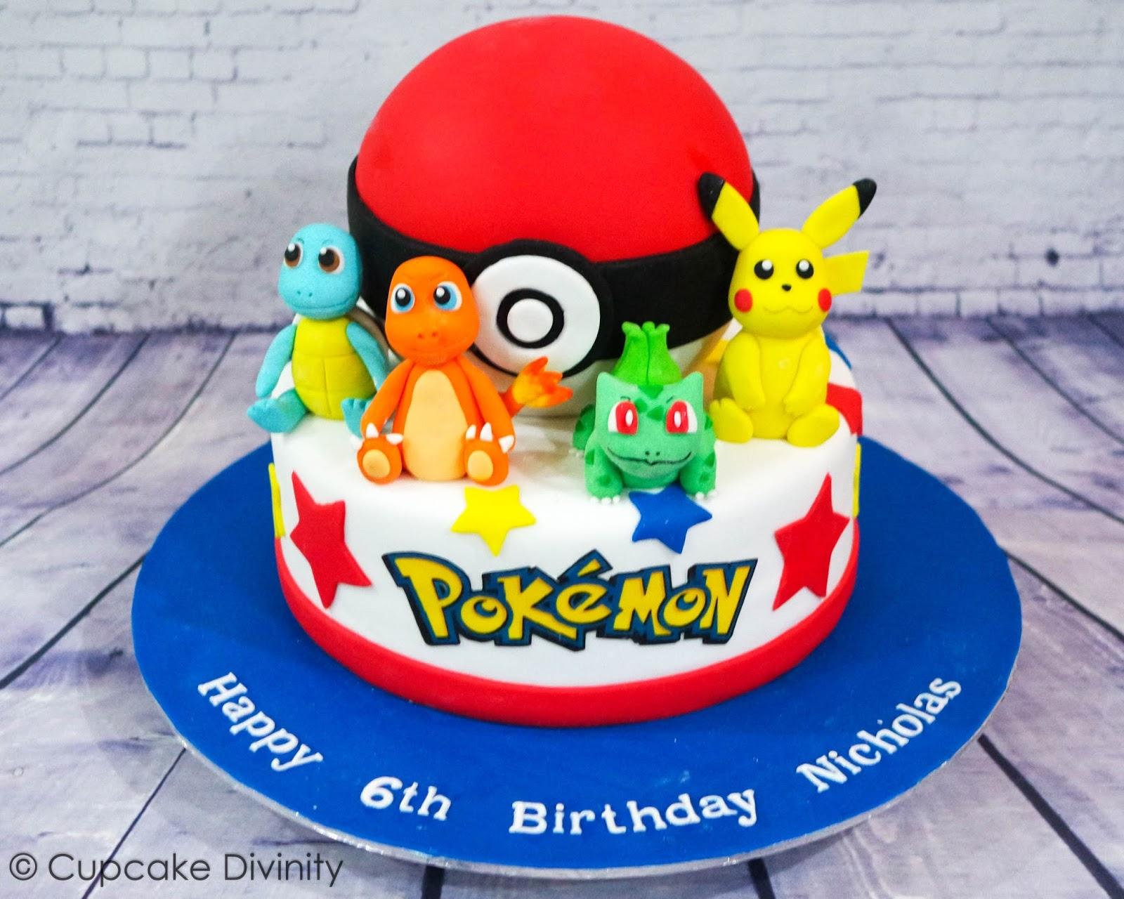 Cupcake Divinity Pokemon Cake