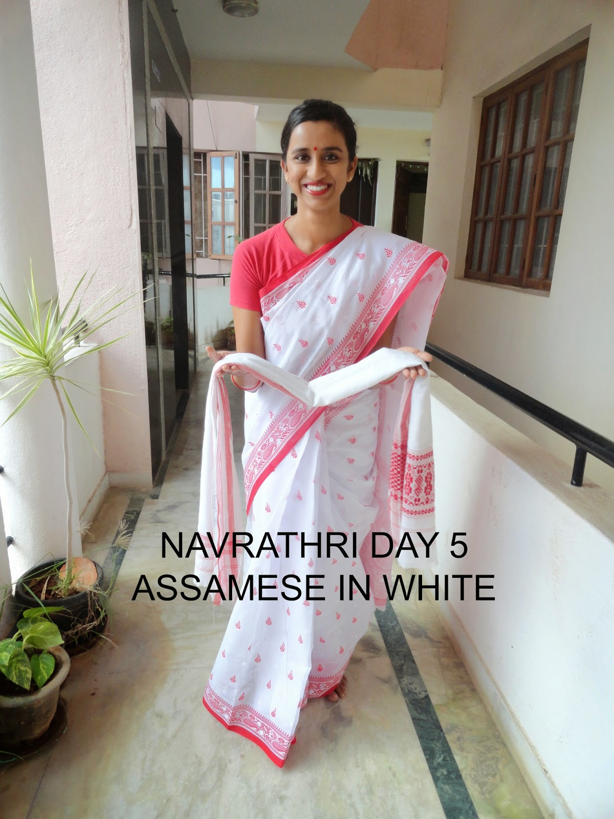 Navrathri Day 5: The tee shirt and Assamese in White image