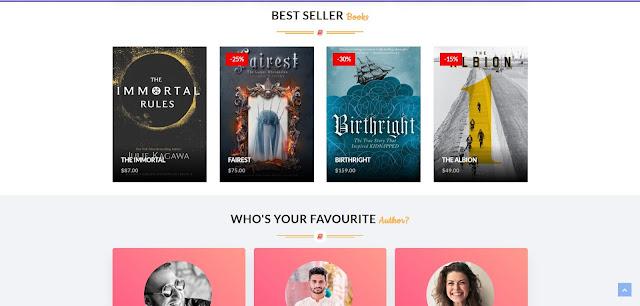 Books тема - шаблон для интернет магазина - продажа книг