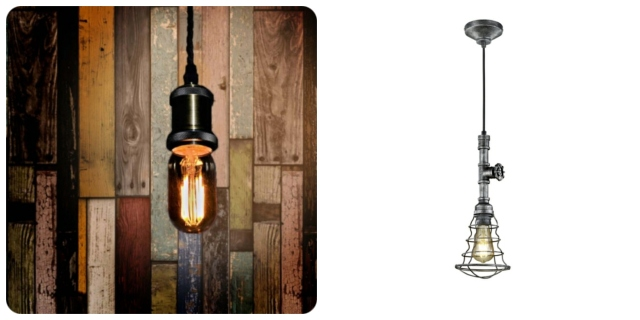 Pendant lights industrial feel