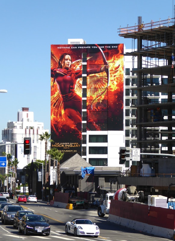 Hunger Games Mockingjay Part 2 giant billboard