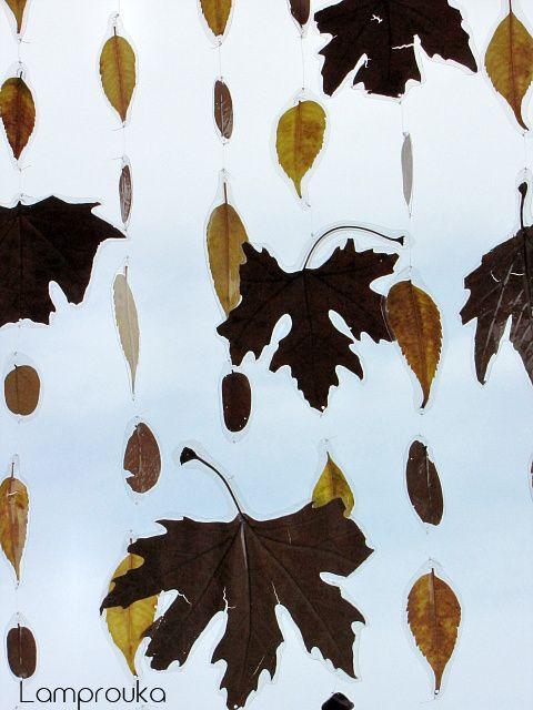 Φτιάξε ένα φθινοπωρινό μόμπιλε με αληθινά φύλλα.