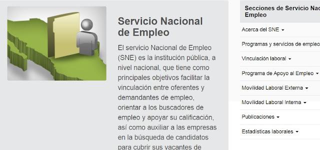 Servicio Nacional de Empleo en Mexico Telefono Funciones programas Estados Unidos y CAnada