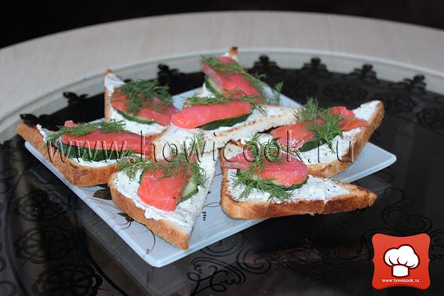 рецепт закуски с семгой