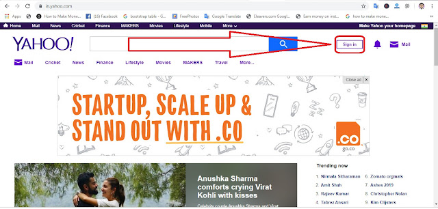 yahoo website