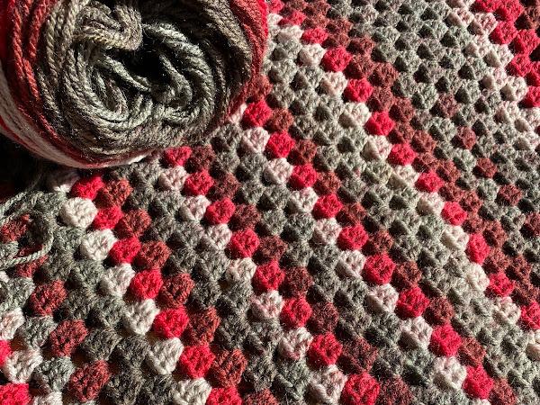 Red Velvet Crochet Blanket