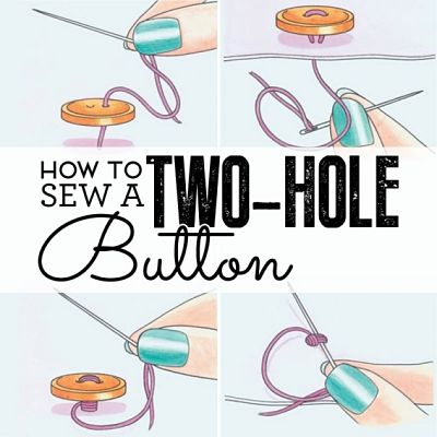 How-Sew-a-two-hole-button