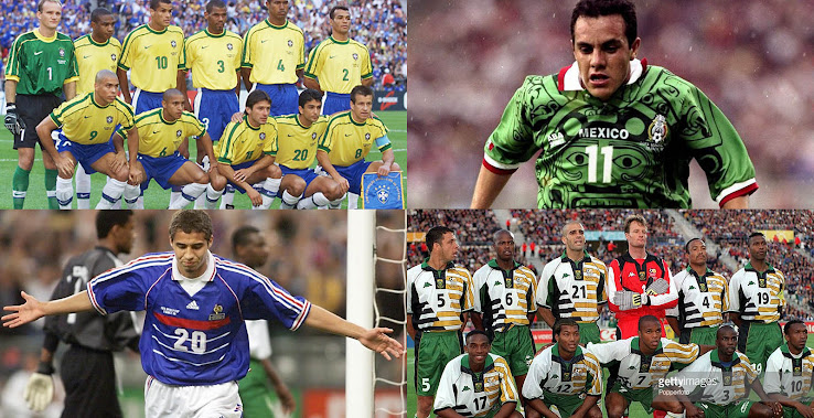 ... of 2018 World Cup kit releases. What better time to look back at the  jerseys of the 1998 World Cup in France 1a6aef77490ac