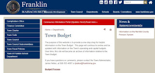 additional info can be found on the Town of Franklin budget page