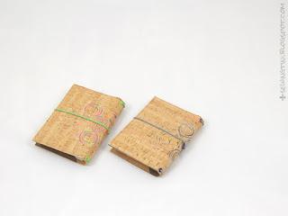 Kork-Fauxdori und Kalenderhüllen