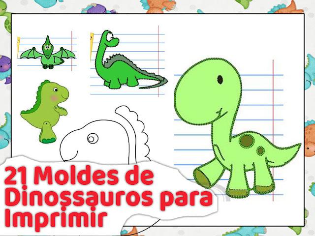 21 Molde De Dinossauro Para Imprimir Em Feltro E Eva Artesanato