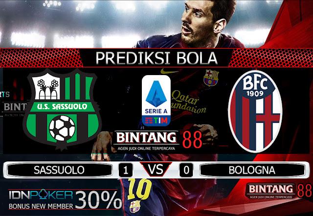 PREDIKSI  BOLA - Pada hari Sabtu, 9 November 2019 pukul 02:45 waktu indonesia barat akan di adakan laga pertandingan Liga Italia antara Sassuolo vs Bologna. Pertandingan ini nantinya akan di laksanakan di Stadion Mapei.