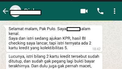 Ditolak Bank Karena Kol 5 BI Checking Isteri