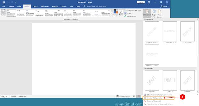 cara membuat background di word 2013