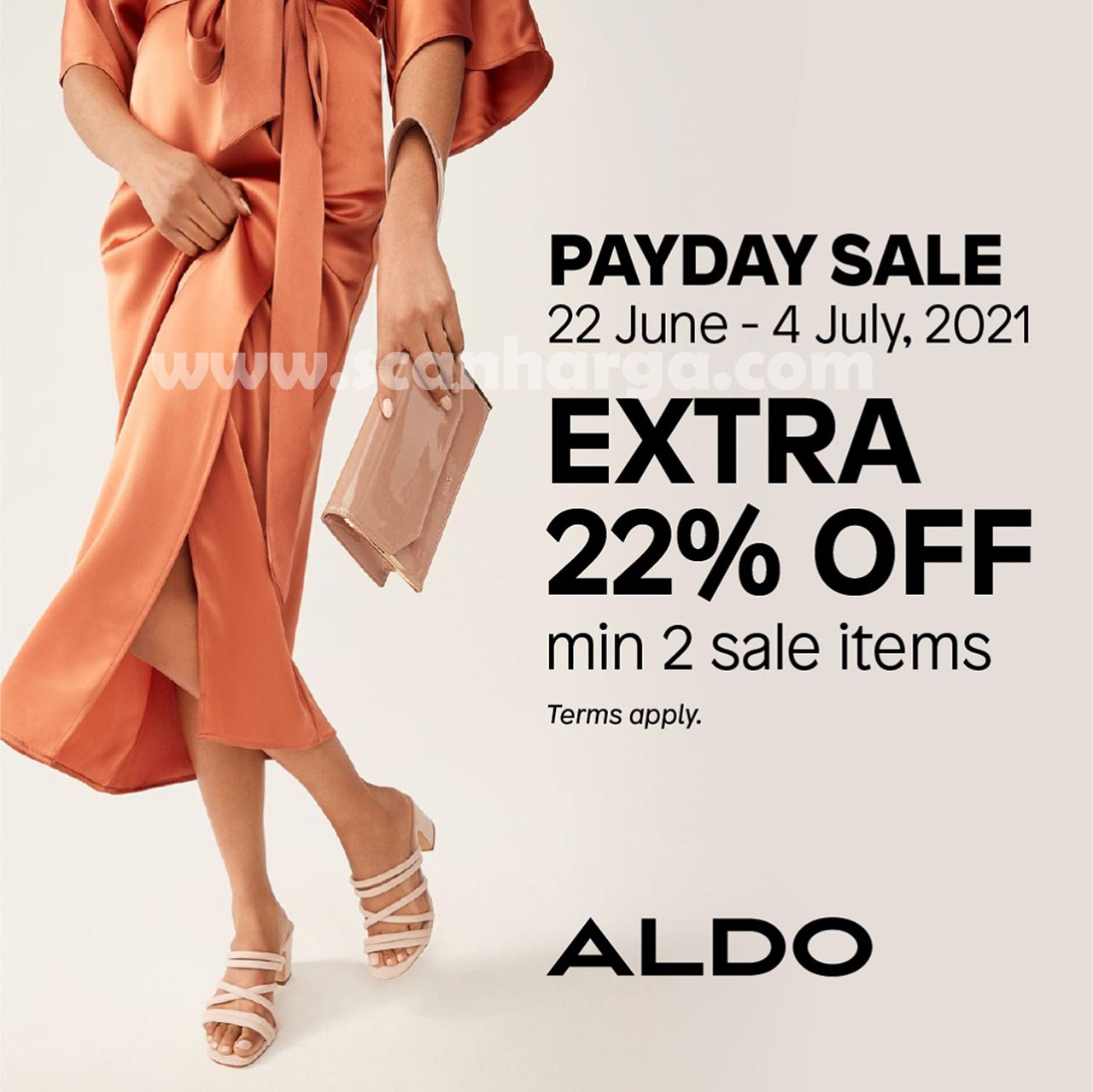 ALDO Shoes Promo PAYDAY SALE!  Extra 22% Off Min Purchase 2 Sale Item