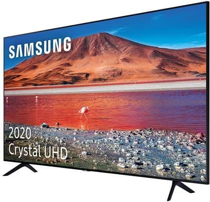 Samsung Crystal UHD 2020 55TU7005: Smart TV 4K de 55'' compatible con asistentes de voz, HDR10+, One Remote Control y sonido Dolby Digital Plus