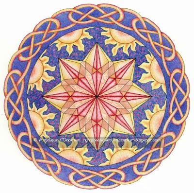 Vedische Zonnekristal Mandala en Om Japa Kusuma Mantra