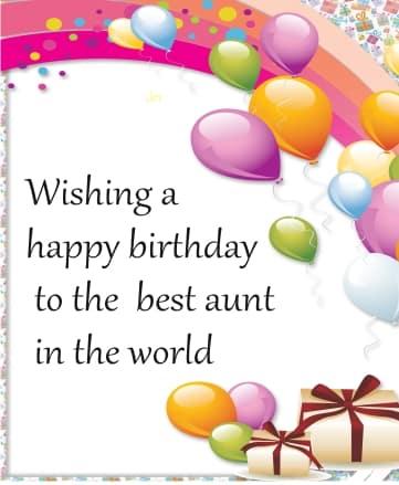 Aunty Birthday Status For Whatsapp-FB