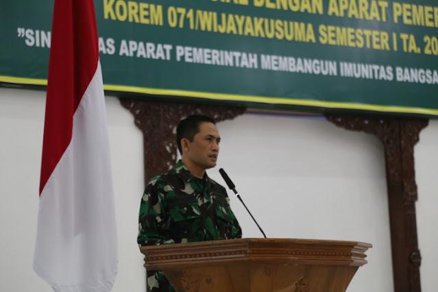 Satukan Pandangan, Korem 071/Wijayakusuma Gandeng Aparat Pemerintah, Gelar Komsos
