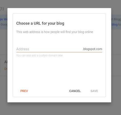 Cara Buat Blogspot Gratis