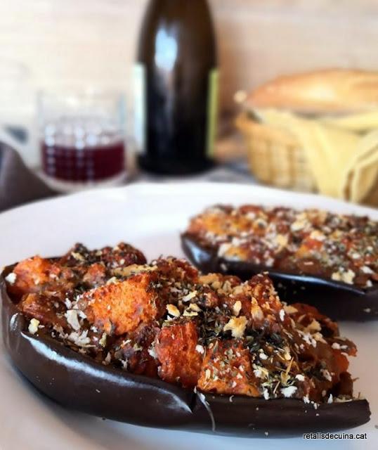 Albergínies farcides al forn