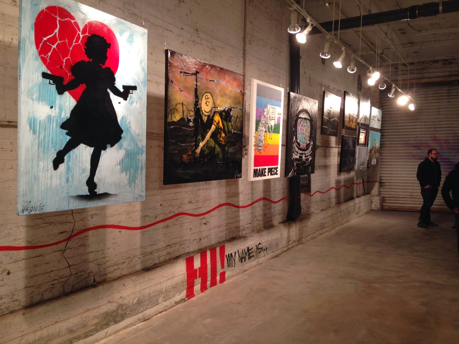 "Preview of Rene Gagnon's new solo show ""Hi! My Name is..."" at the Bottleneck Gallery in New York City. 1"