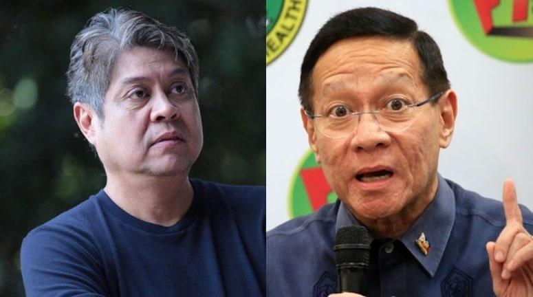 Senator Kiko Pangilinan (left) questions statements of DOH Secretary Francisco Duque.