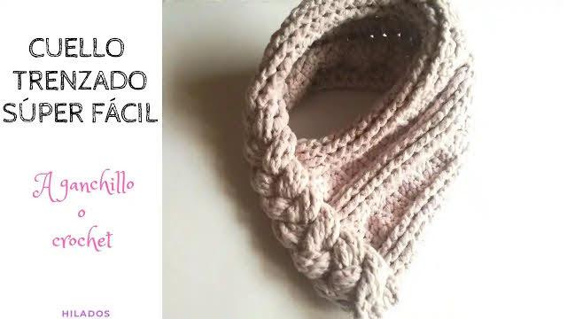 Bufanda o Cuello Trenzado a Crochet