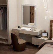 wall mounted modern dressing tables for bedroom interior designs 2018