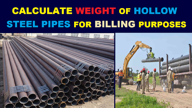 How to Calculate Weight of Hollow Steel Pipes in KG (Kilograms)