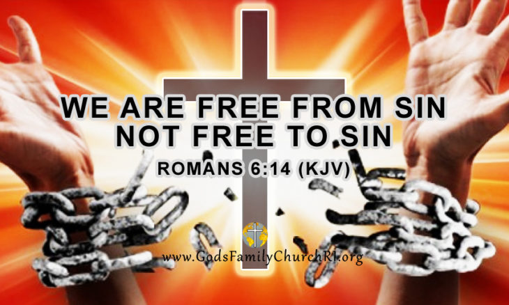 Know what it means to be 'free from sin'