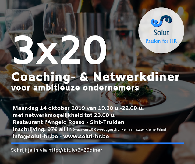 3 x 20 coaching- en netwerkdiner solut-hr