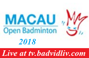 Macau Open 2018 live streaming