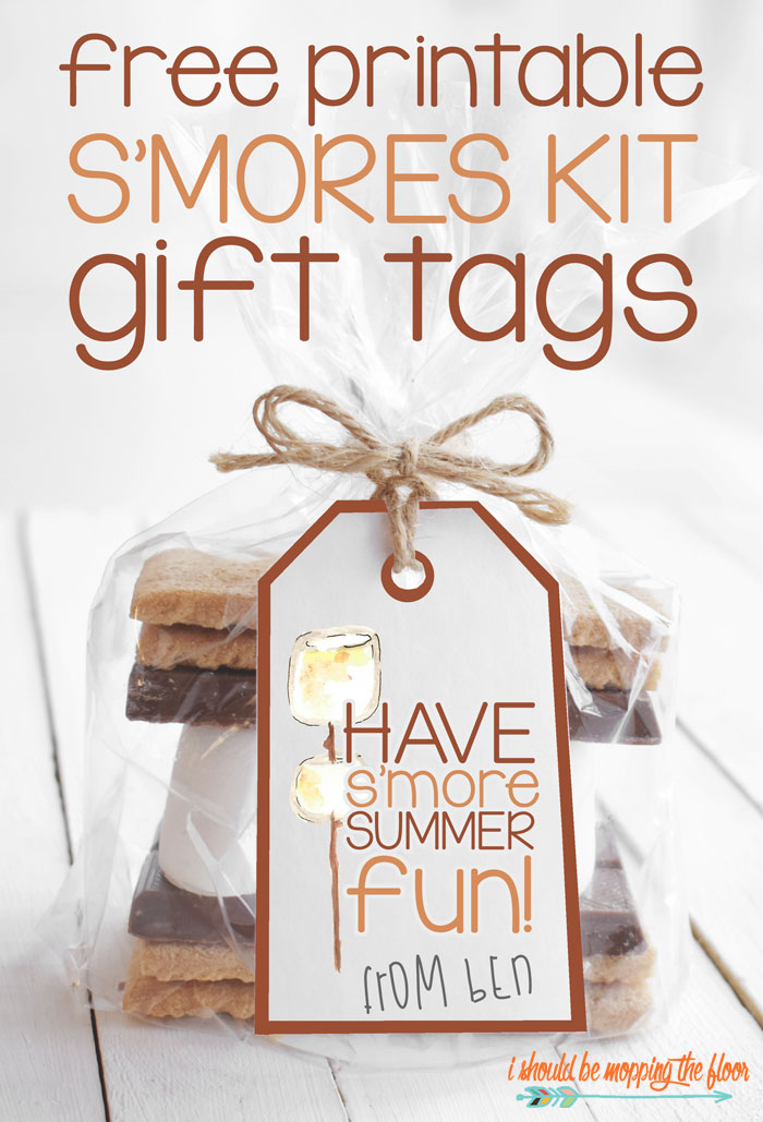 Free Printable S'more Kit Gift Tags