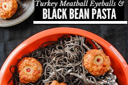 Turkey Meatballs & Black Bean Pasta: a Halloween Dinner recipe