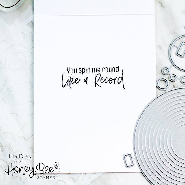 Spin Me Round Like A Record | Sipping Rooster Card | Honey Bee Stamps by ilovedoingallthingscrafty.com