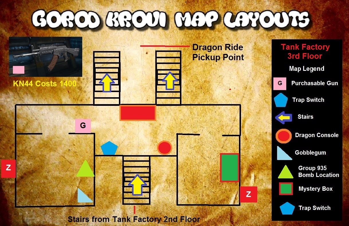 Zombified Call Of Duty Zombie Map Layouts Secrets Easter Eggs - Us map dragon