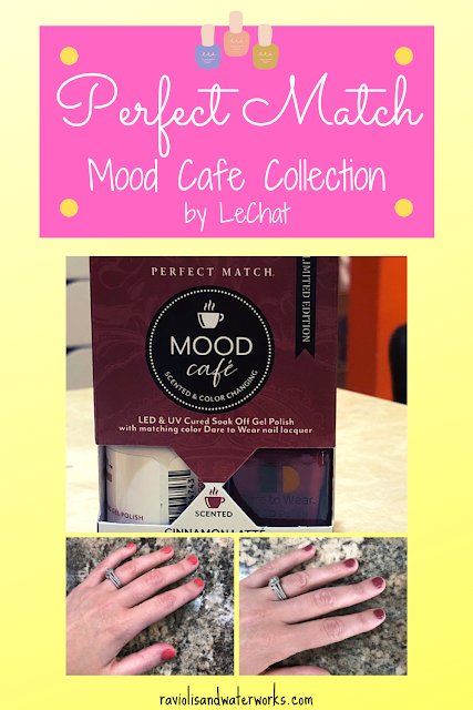 perfect match lechat; perfect match mood cafe review; lechat nail polish; lechat color changing gel polish; color changing UV polish
