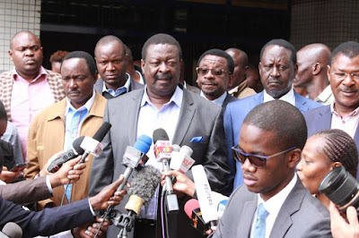 Musalia Mudavadi and the other NASA principles. PHOTO | FILE