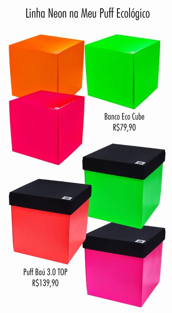 que conta com trs modelos de puffs o banco eco cube puff eco top e puff ba top esse ltimo com ba interno para voc guardar objetos olha s
