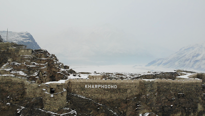 Drone captures of Kharpocho Fort Baltistan