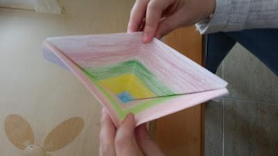 Paso 5 baquito de papel