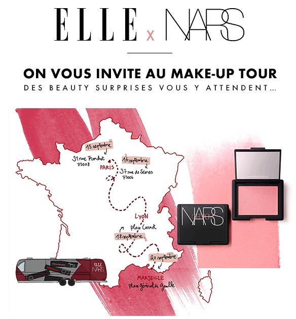 Nars et Elle beauty truck blush offert